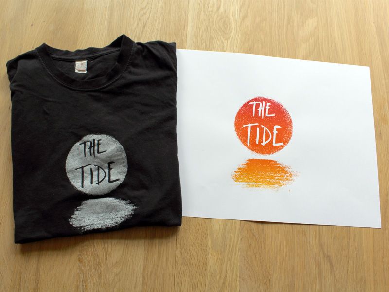 The Tide T-shirt and screenprint